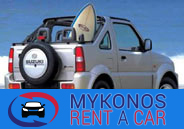 Mykonos car rental - KOSMOS Rent a car in Mykonos